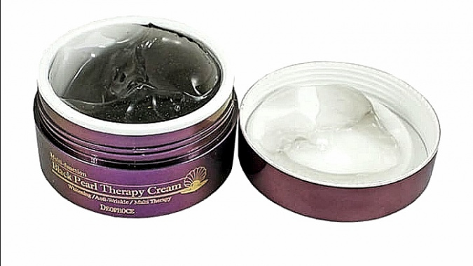 Осветляющий крем Deoproce Black Pearl Therapy Cream фото 2
